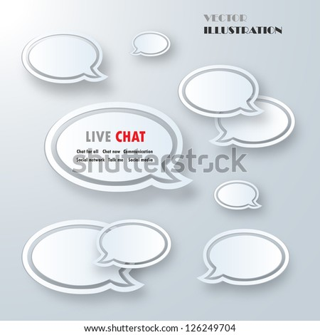 Set of White Sample Labels For Various Options - Isolated On Gray Background - Vector Illustration, Graphic Design Editable For Your Design - stock vector