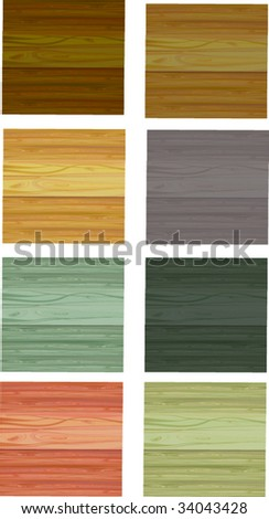 set of wooden background - stock vector