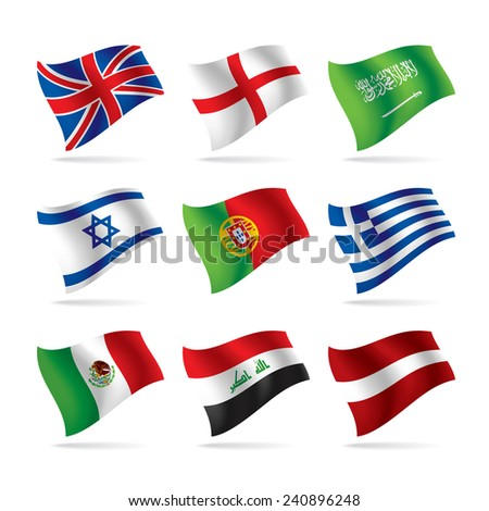 Set of world flags. Vector illustration - stock vector