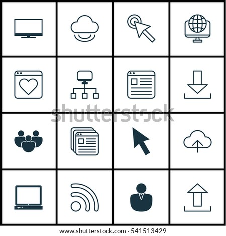 Set 16 World Wide Web Icons Stock Vector 541513429 Shutterstock