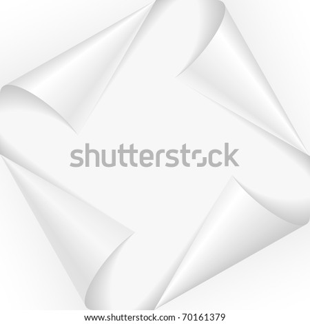 Set page corners. Vector illustration on white background - stock vector