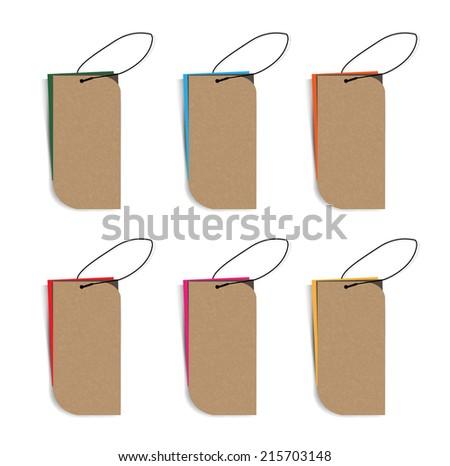 set paper labels. Vector. - stock vector