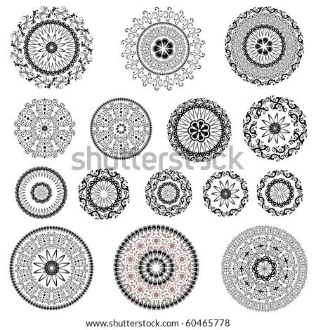 set pattern arabesque - stock vector