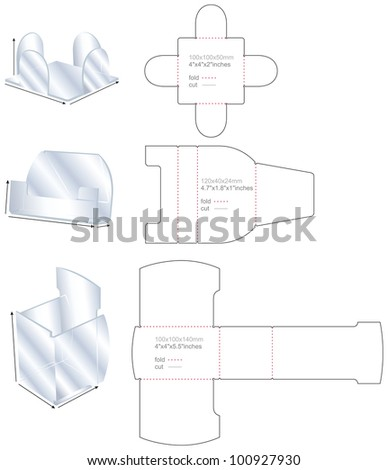 set plastic stand templates - stock vector