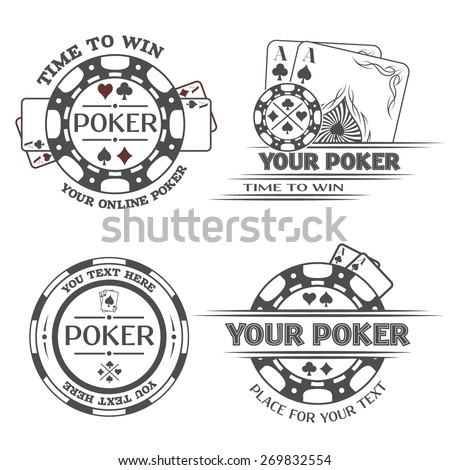 Set poker emblems. - stock vector