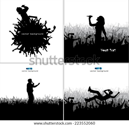 Set poster for music concert. - stock vector