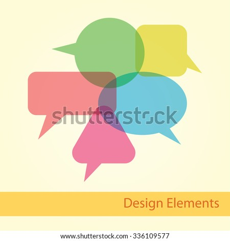 Set quote speech bubble. Frame for text. Text box vector