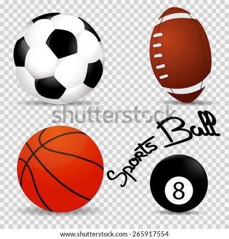 Set realistic of balls vector illustration - stock vector