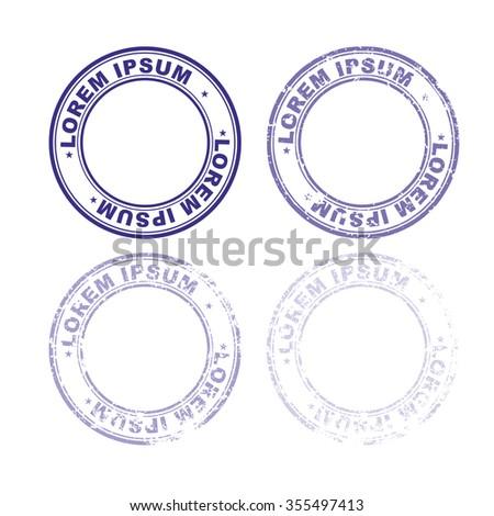 stamp template design templates