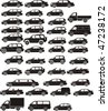 set silhouette different types of the cars - stock vector