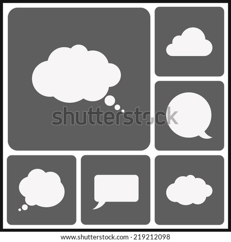 Set speech  icons - stock vector