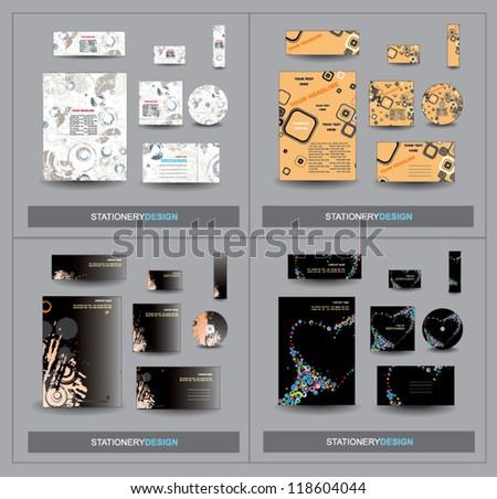 Set Stationery design - stock vector
