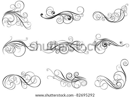 Set swirl design elements