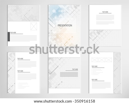 set templates for presentation slides. Graphic design of architectural background - stock vector