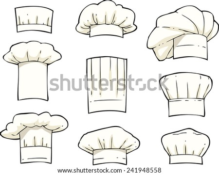 Set toques on a white background vector illustration - stock vector