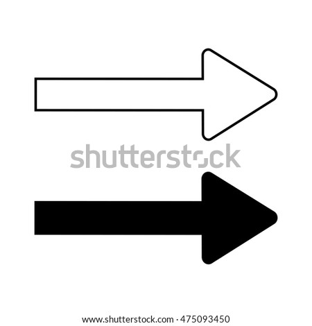 traffic sign direction symbol isolated on stock vector 461496697 shutterstock. Black Bedroom Furniture Sets. Home Design Ideas