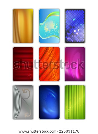 Set vector abstract drapery background isolated on white, EPS10  - stock vector