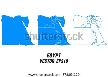 Set Vector Maps Vector Map Omanvector Stock Vector - Map of egypt vector free