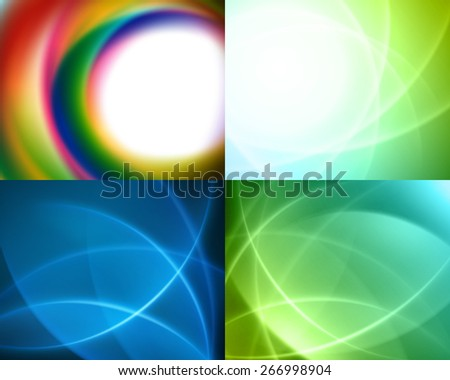 Set vector modern abstract technology backgrounds design can be use for Business Brochure, Flyer, Website Banners, Corporate Report, Presentation, Advertising templates - stock vector