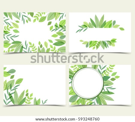 set vector natural business cards decorations stock vector royalty