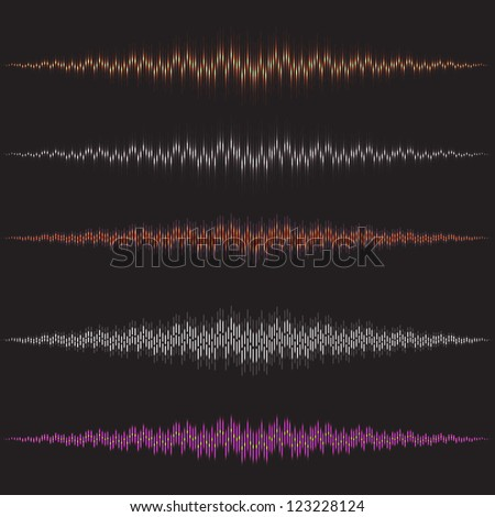 Set waves and equalizer for science - stock vector