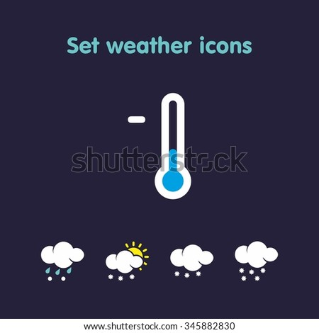 Set weather icons . Use is possible for web , weather transmission or company logo - stock vector