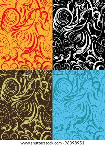 set with abstract background. vector illustration