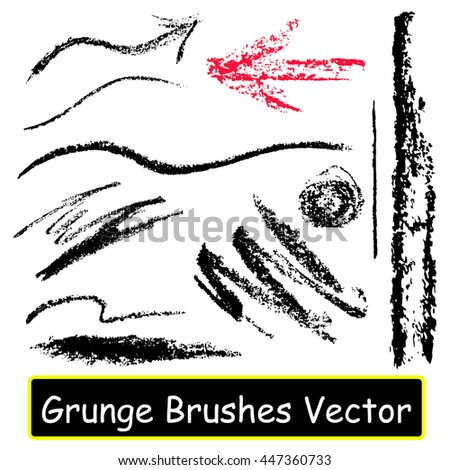 set with the image of graphic vector brushes