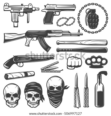 Gangsta Drawings With Guns Gangster Stock ...