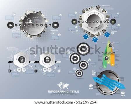 Set with vector infographics