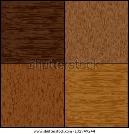 Set wood seamless backgrounds. Vector - stock vector