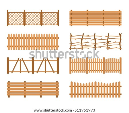 Wood gate stock images royalty free images vectors for Barda de madera para jardin