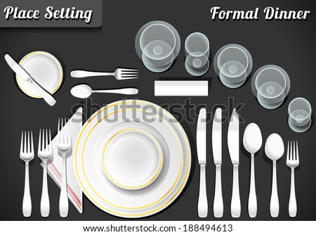 Setting Place Formal Placemat. Place Setting Informal Place Mat. Formal Placement Plate Napkins. & Setting Place Formal Placemat Place Setting Stock Vector (2018 ...