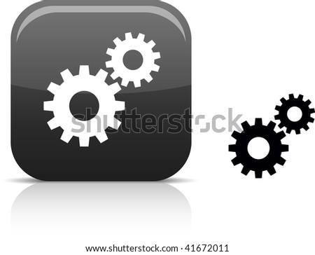 Settings  beautiful icon. Vector illustration. - stock vector