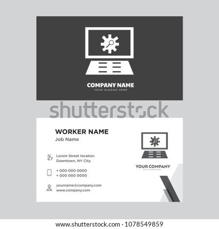 Settings business card design template visiting stock vector settings business card design template visiting for your company modern creative and clean identity reheart Images