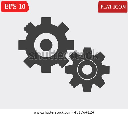 Settings icon vector  - stock vector