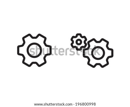 Settings Outline Icon Symbol - stock vector