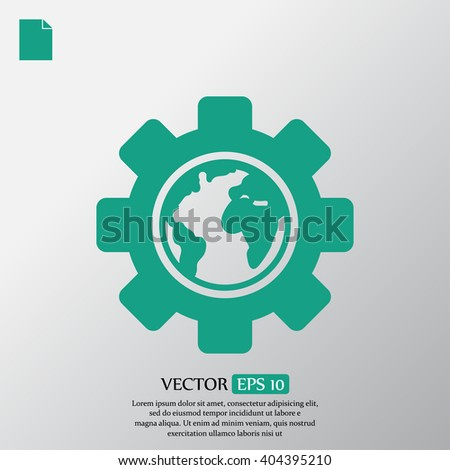 settings parameters, globe Icon vector - stock vector