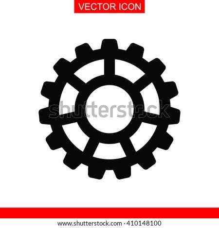 Settings vector icon. Cog settings sign icon. Cogwheel gear mechanism symbol. - stock vector