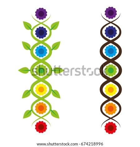 Seven Chakras Kundalini Snake Stock Vector 674218996 Shutterstock
