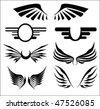 Seven wings - stock vector