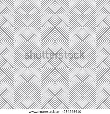 Seventies inspired background with grey and white square design - stock vector