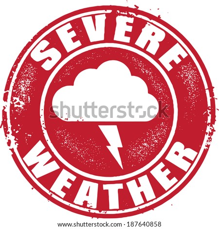 Severe Weather Icon Sign - stock vector