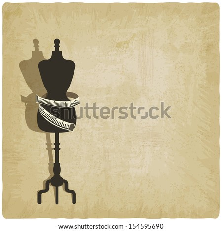 sewing background - vector illustration - stock vector