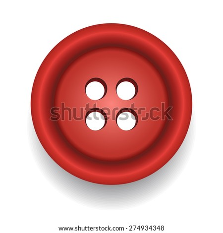Sewing button. Vector - stock vector