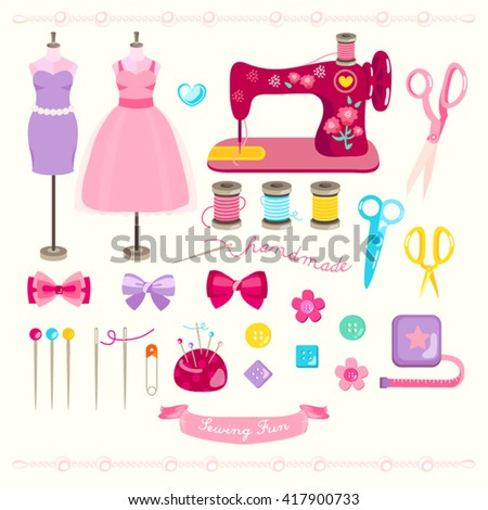 Sewing Elements Vector Design