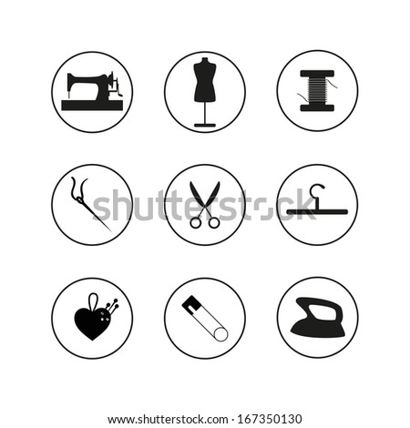 Sewing Icons set - stock vector