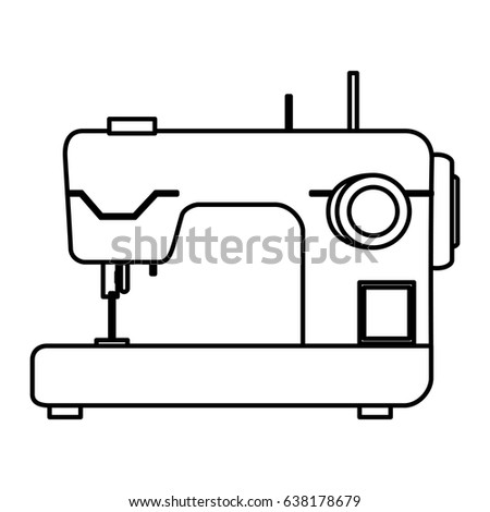 sewing machine isolated icon stock vector 638178679 shutterstock rh shutterstock com sewing machine clipart black and white sewing machine clip art images