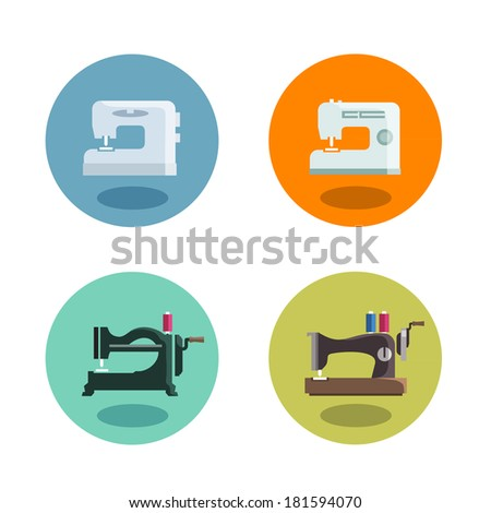 Sewing machine. Vector format - stock vector