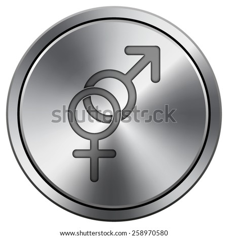 Sex icon. Internet button on white background. EPS10 Vector.  - stock vector